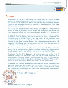 Preface by Minister of Education Im Sethy